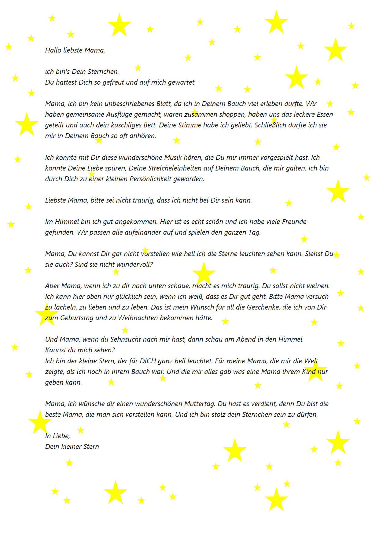 Brief so dir ich bin glücklich mit Schatz